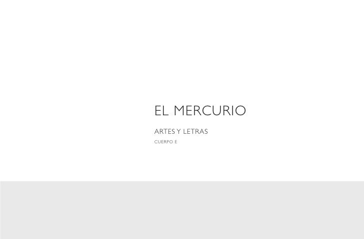 EL MERCURIOARTES Y LETRASCUERPO E