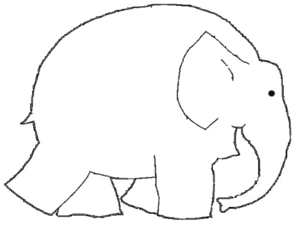 Free Coloring Pages Of Elephant Elmer Elmer Elephant Coloring Page