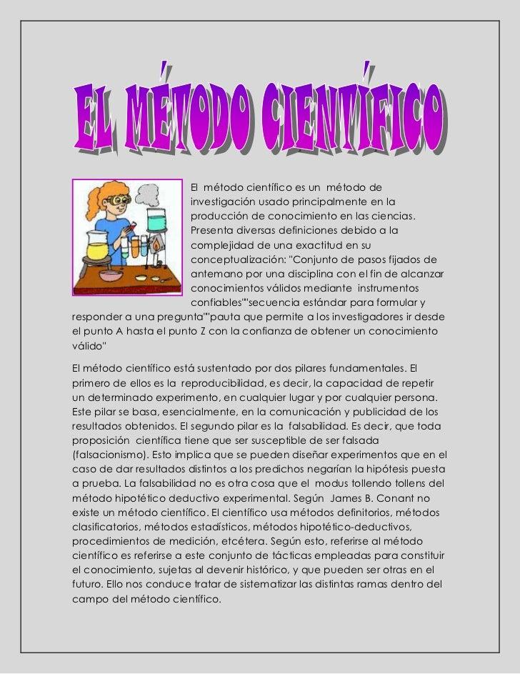 <br />15240-3810El  método científico es un  método de investigación usado principalmente en la producción de conocimient...