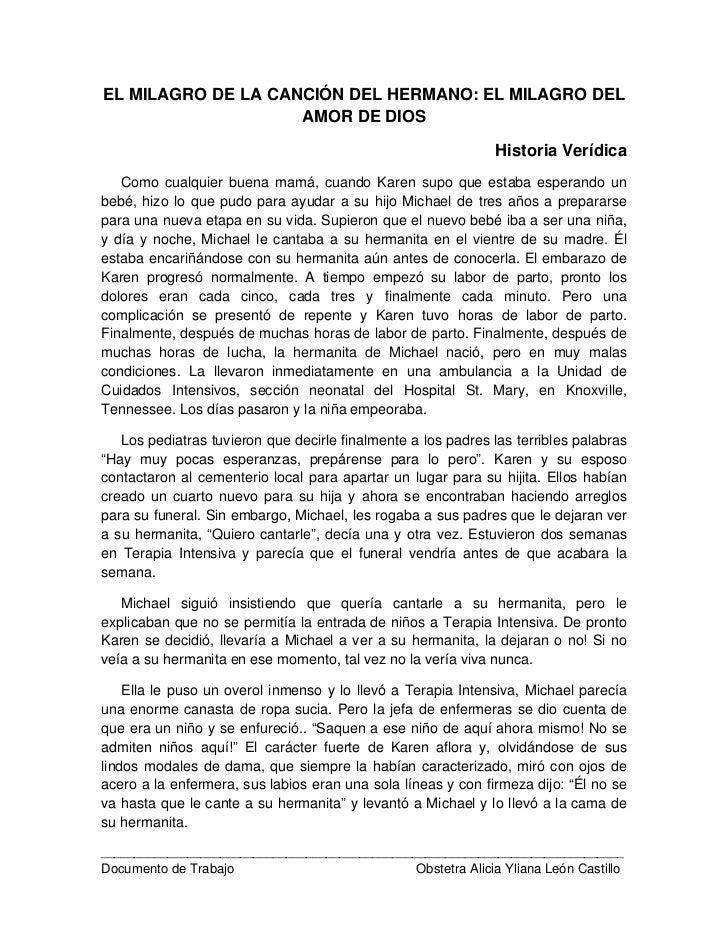 EL MILAGRO DE LA CANCIÓN DEL HERMANO: EL MILAGRO DEL                    AMOR DE DIOS                                      ...