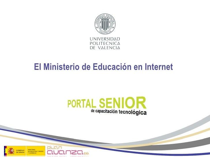 El Ministerio de Educación en Internet