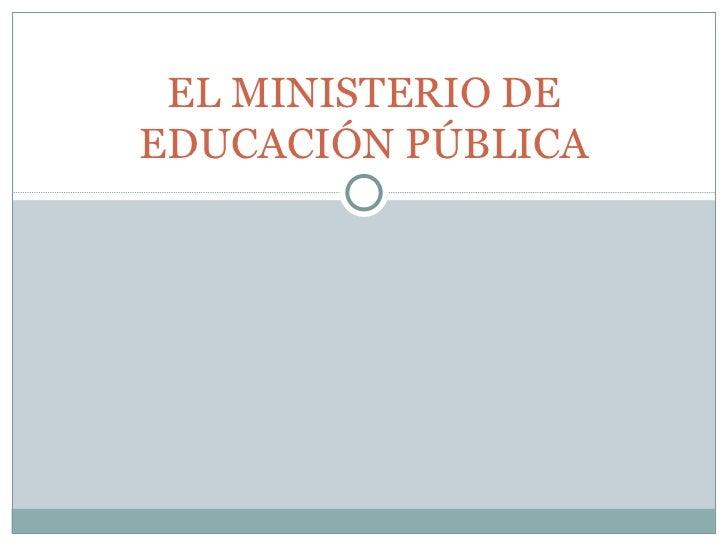 El ministerio de educaci n p blica y conesup for Ministerio de educacion plazas