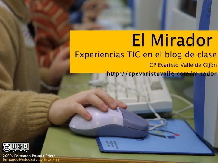 Experiencias TIC en el blog de clase                                                       CP Evaristo Valle de Gijón     ...