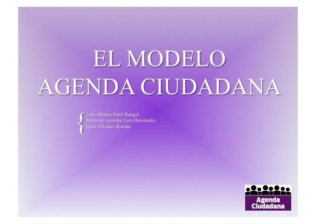 El modelo agenda ciudadana