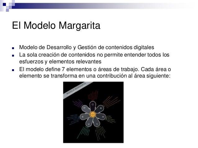 El Modelo Margarita ■ Modelo de Desarrollo y Gestión de contenidos digitales ■ La sola creación de contenidos no permite e...