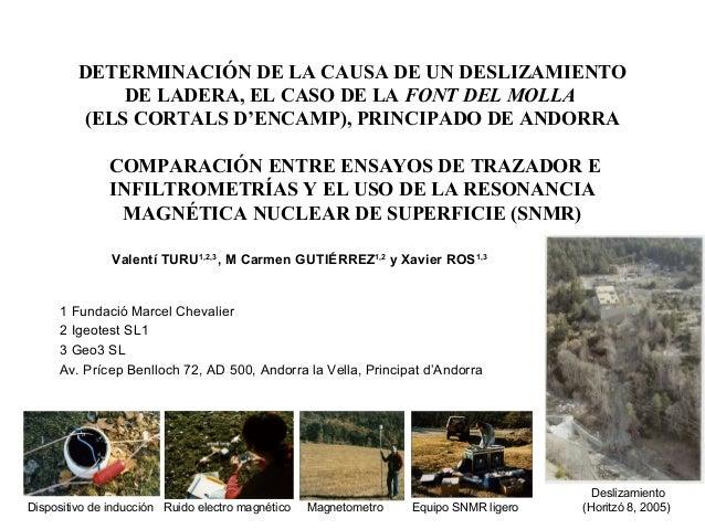 DETERMINACIÓN DE LA CAUSA DE UN DESLIZAMIENTO DE LADERA, EL CASO DE LA FONT DEL MOLLA (ELS CORTALS D'ENCAMP), PRINCIPADO D...