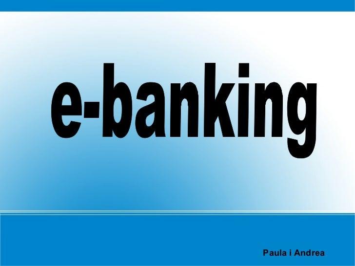 Paula i Andrea e-banking