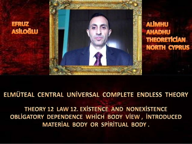 Elmüteal  central  global  uni̇versal  complete  endless  theory 12 law 12