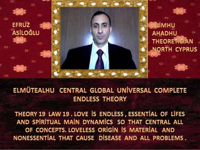 Elmüteal  central  global  uni̇versal  complete  endless  theory 19 law 19