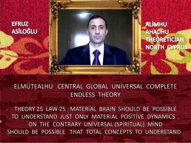Elmütealhu  central  global  uni̇versal  complete  endless  theory 25 law 25