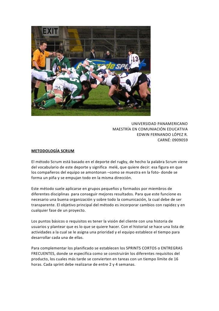 UNIVERSIDAD PANAMERICANO                                               MAESTRÍA EN COMUNIACIÓN EDUCATIVA                  ...