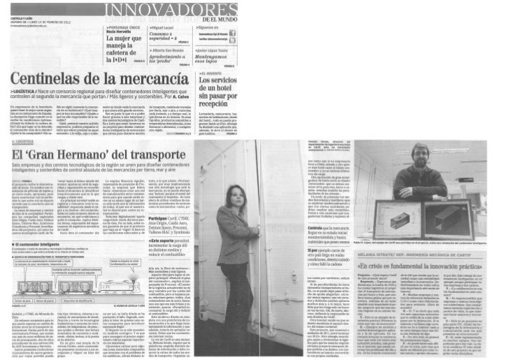 Proyecto IMCIS, El mundo13.02.2012