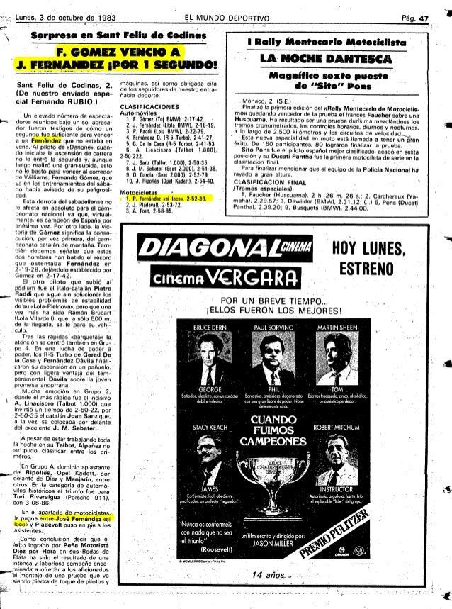 Lunes,3deoctubrede.1983                                            EL MUNDO DEPORTIVO                                     ...