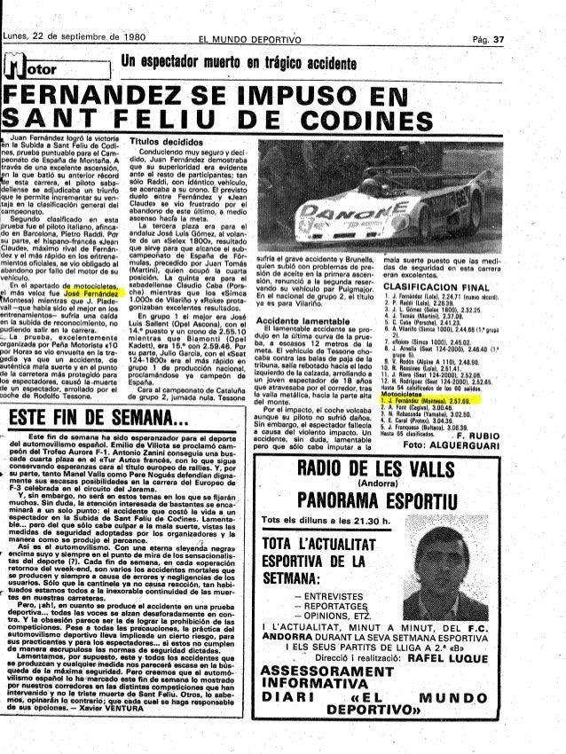 Lunes, 22 de septiembre. de 1980                                      UneSpectador entrágico                              ...