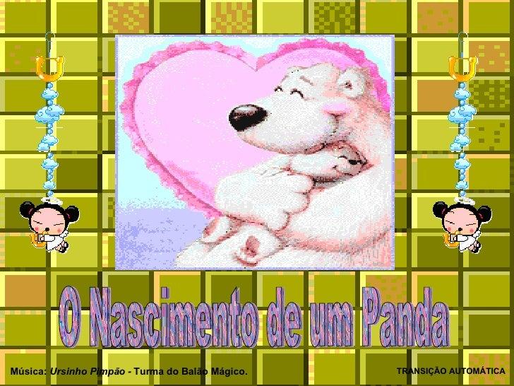 O Nascimento de um Panda TRANSIÇÃO AUTOMÁTICA Música:  Ursinho Pimpão -  Turma do Balão Mágico.