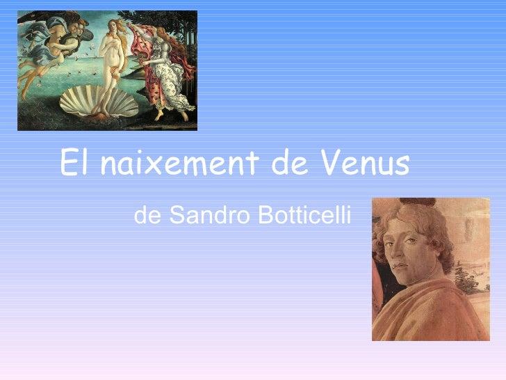 El  naixement  de Venus de Sandro Botticelli