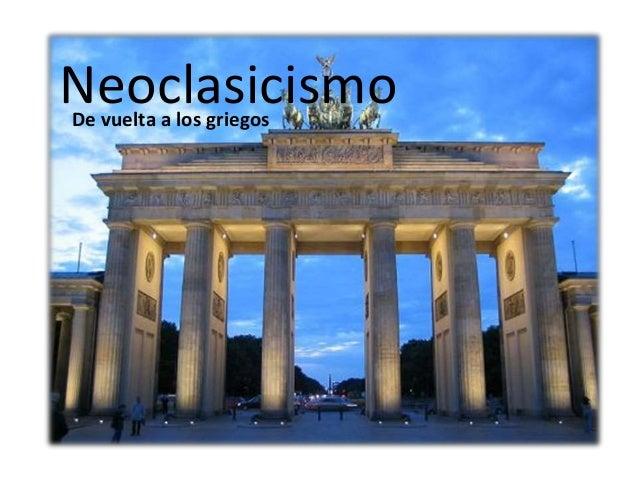 el neoclasicismo:
