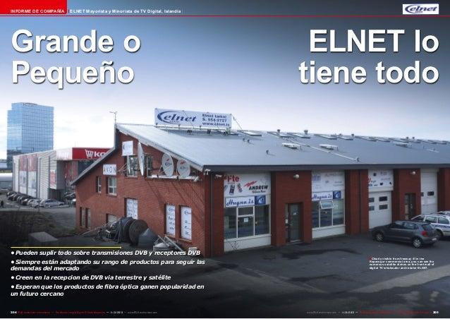 Informe de Compañía  ELNET Mayorista y Minorista de TV Digital, Islandia  Grande o Pequeño  •Pueden suplir todo sobre tra...