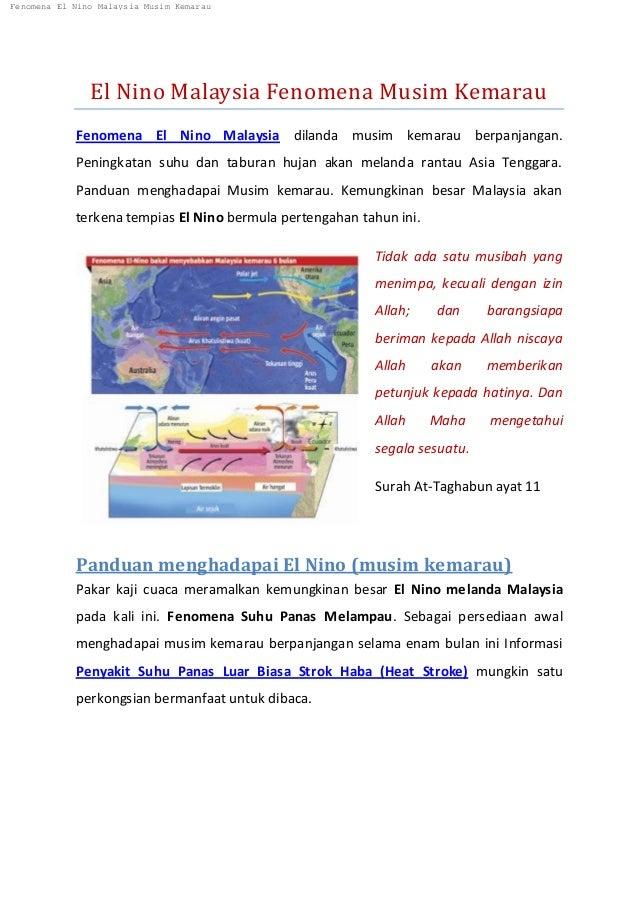 El Nino Malaysia Fenomena Musim Kemarau Fenomena El Nino Malaysia dilanda musim kemarau berpanjangan. Peningkatan suhu dan...