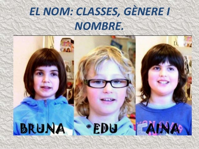 EL NOM: CLASSES, GÈNERE I  NOMBRE.
