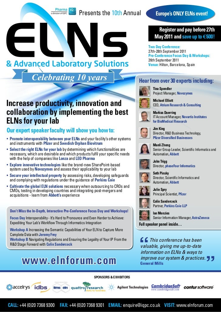Presents the 10th Annual                     Europe's ONLY ELNs event!                                                    ...