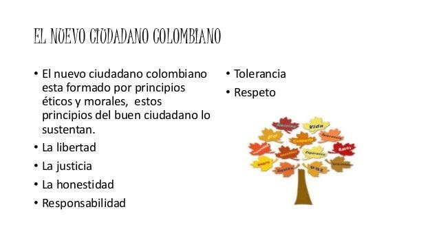EL NUEVO CIUDADANO COLOMBIANO • El nuevo ciudadano colombiano esta formado por principios éticos y morales, estos principi...