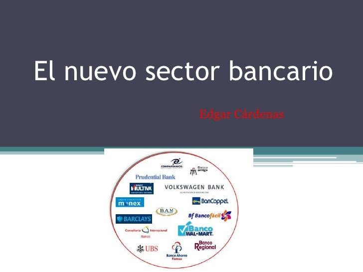 El nuevo sector bancario. Exposición Edgar Cárdenas