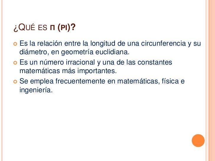 Resultado de imagen de ¿Qué es Pi?