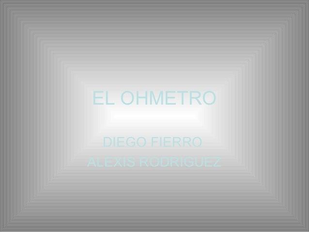 EL OHMETRO DIEGO FIERRO ALEXIS RODRIGUEZ