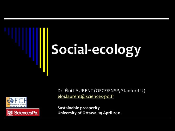 Eloi Laurent - SP Speakers Series: Social Ecology