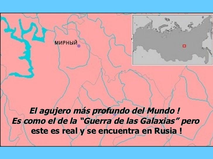 """El agujero más profundo del Mundo !  Es como el de la  """"Guerra de las Galaxias"""" pero  este es real y se encuentra en Rusia !"""