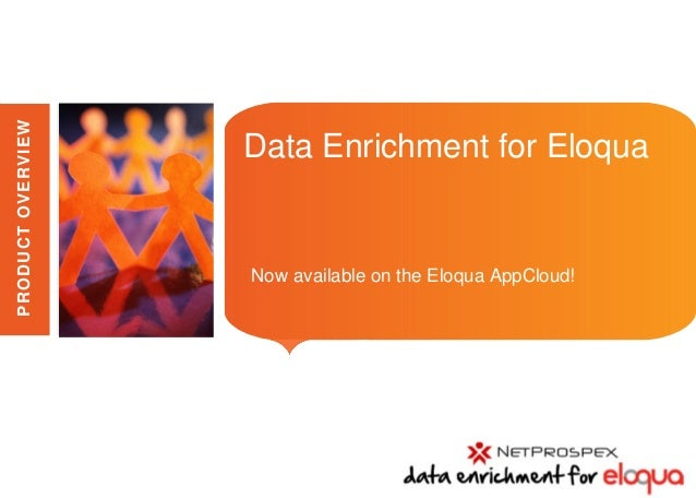 PRODUCT OVERVIEW                                      Data Enrichment for Eloqua                   Place image here       ...