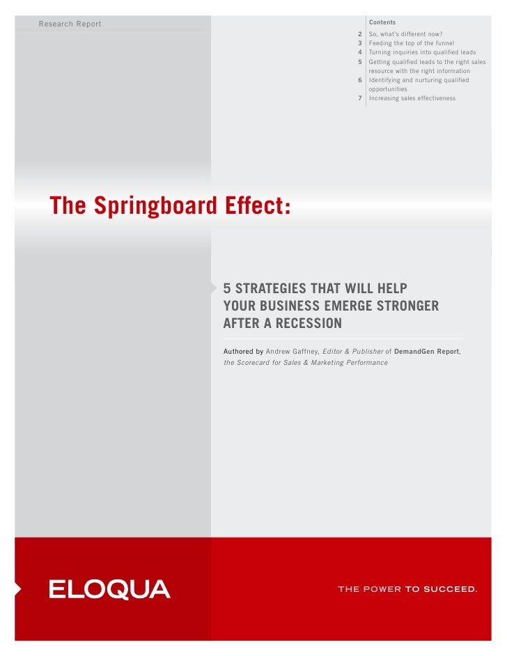 Eloqua The Springboard Effect