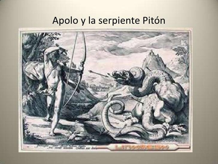 Resultado de imagen para apolo delfos pitone
