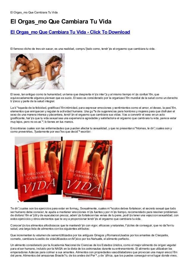El Orgas_mo Que Cambiara Tu VidaEl Orgas_mo Que Cambiara Tu VidaEl Orgas_mo Que Cambiara Tu Vida - Click To DownloadFree, ...