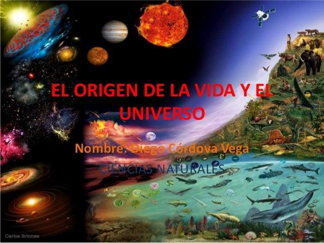 El origen del universo diego cordova