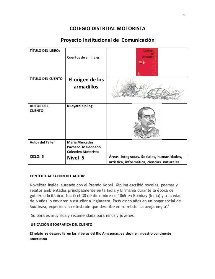 1                        COLEGIO DISTRITAL MOTORISTA                    Proyecto Institucional de ComunicaciónTÍTULO DEL L...