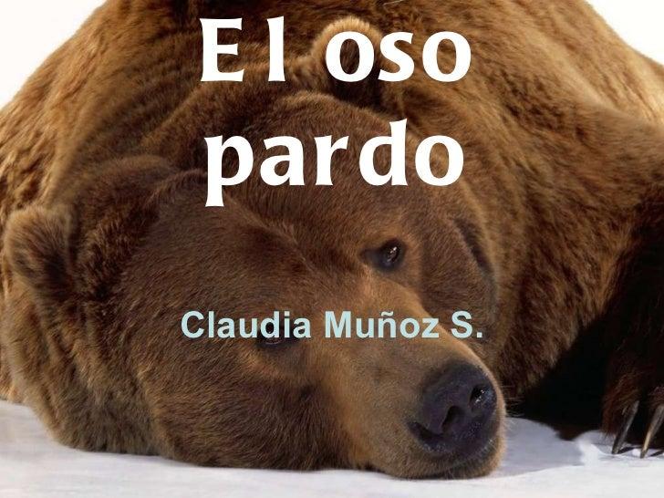 El oso pardo Claudia Muñoz S.