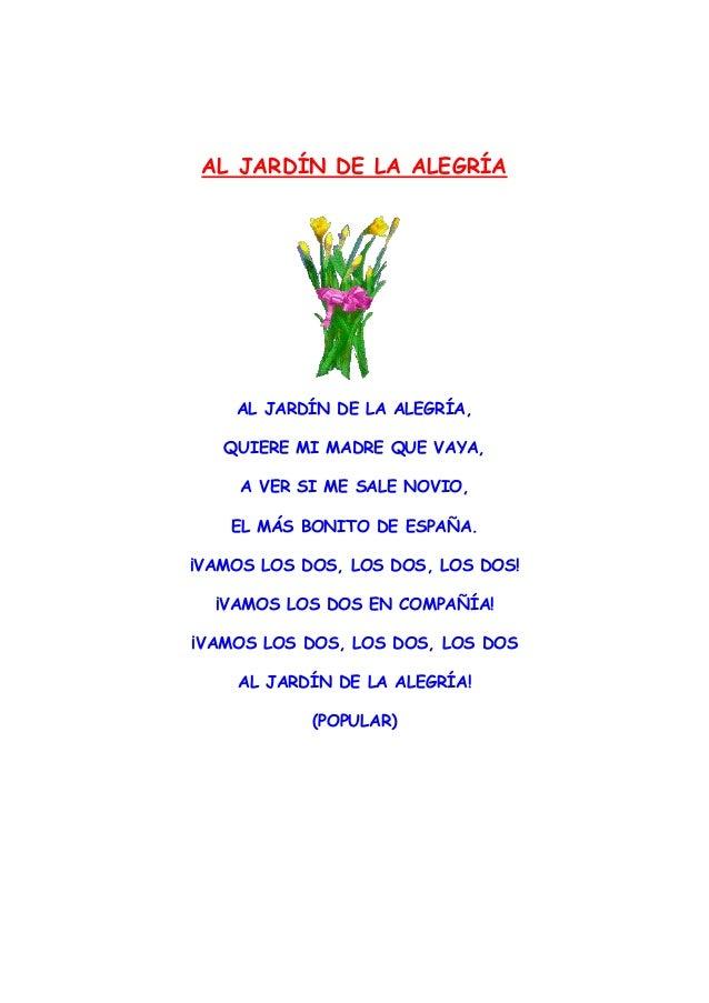 Poesias for Cancion adios jardin querido