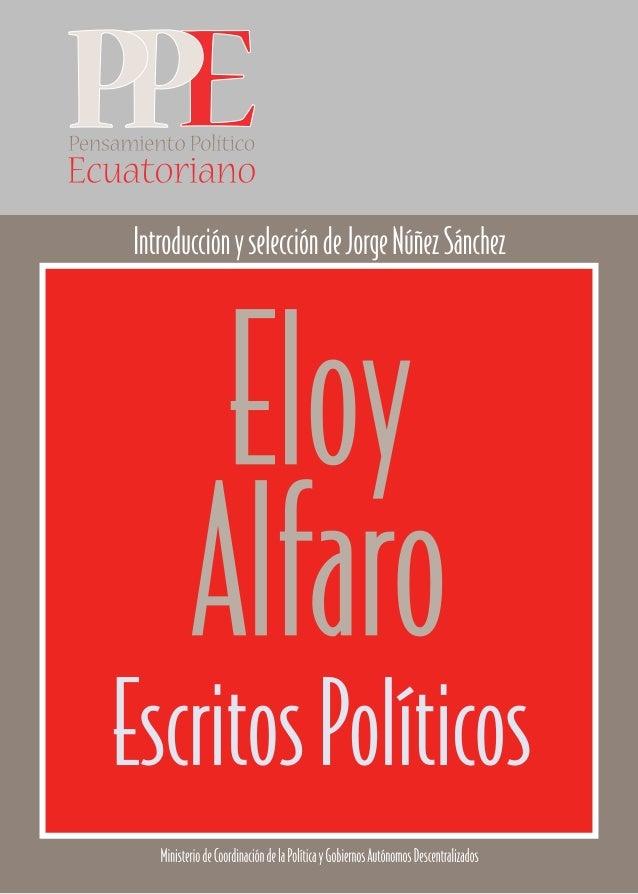 Eloy AlfaroEscritos Políticos