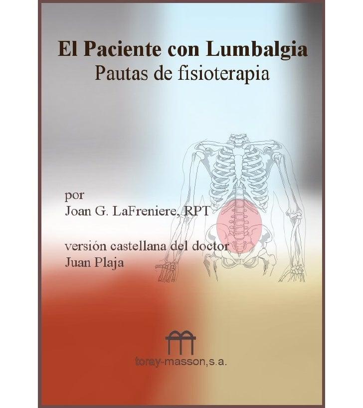 El paciente con lumbalgia, por j. la freniere