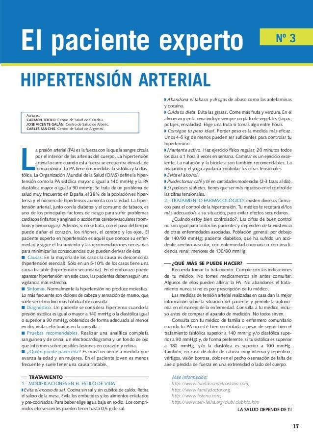 El paciente experto en hipertensión arterial