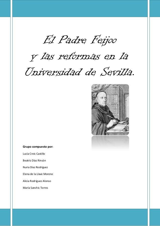 El padre feijoo y las reformas en la universidad de sevilla elena de la llave moreno
