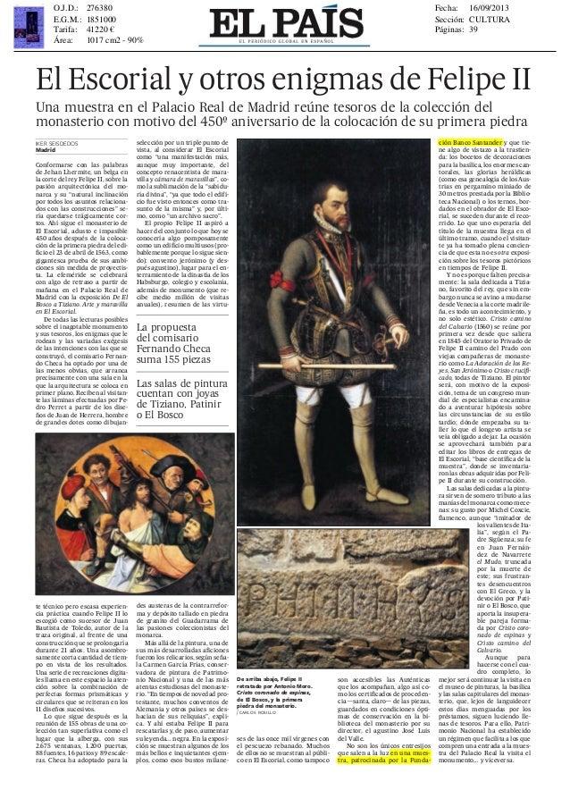 EL PAÍS, lunes 16 de septiembre de 2013 vida & artes 39 cultura Conformarse con las palabras de Jehan Lhermite, un belga e...