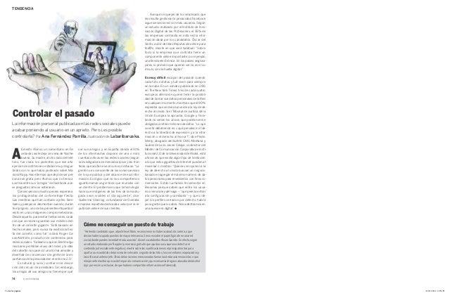 Artículo de Reputación Online en 'El País Semanal'