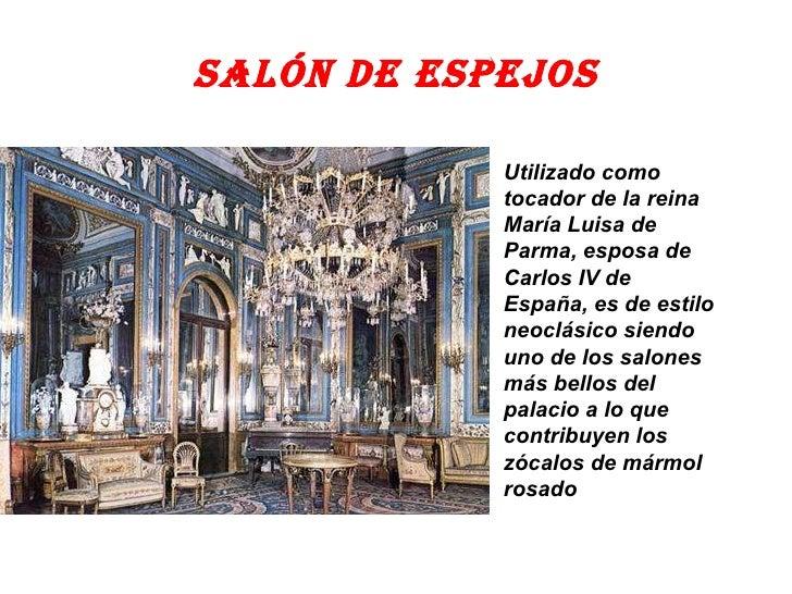 El palacio real - Espejos en el salon ...