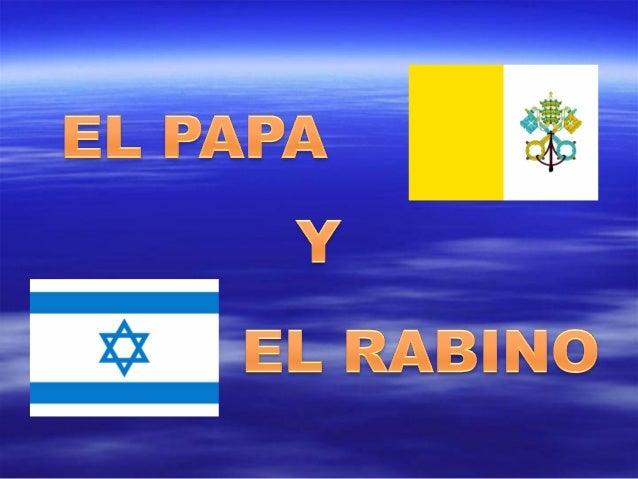 El Papa Juan Pablo II, en una sala de audiencias delVaticano, recibe a una de las más altas autoridadesreligiosas del juda...