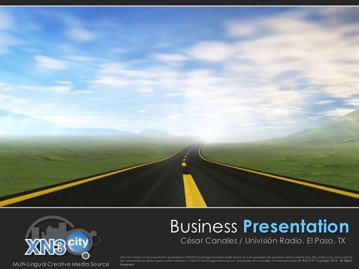 Business Presentation                                                                                      César Canales /...