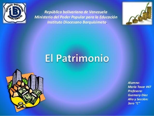 República bolivariana de Venezuela  Ministerio del Poder Popular para la Educación  Instituto Diocesano Barquisimeto.  Alu...