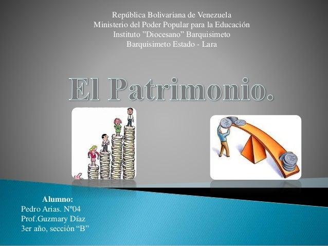 """República Bolivariana de Venezuela  Ministerio del Poder Popular para la Educación  Instituto """"Diocesano"""" Barquisimeto  Ba..."""